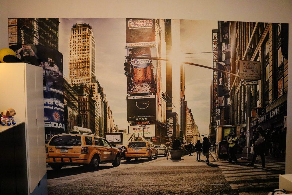 Unser Kinderzimmer ist nun Mitten in NEW YORK dank Fototapete.de ...