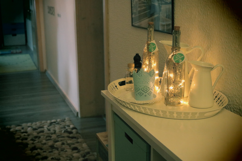 Akzente setzen mit den beleuchteten deko flaschen der rcee - Deko mit flaschen ...