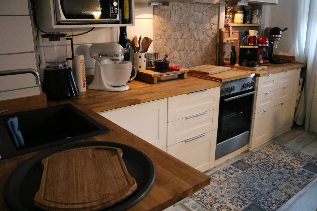 k chen impro unsere neue arbeitsplatte von worktop express k chengestaltung eiche. Black Bedroom Furniture Sets. Home Design Ideas