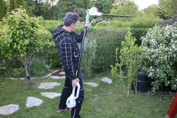 So wird hecke schneiden zum kinderspiel mit der ikra teleskop